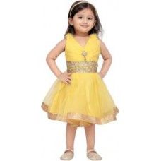 Deals, Discounts & Offers on Kid's Clothing - Flat 60% Offer on Aarika Girl's Gathered Yellow Dress