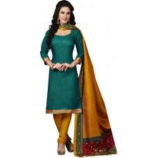 Deals, Discounts & Offers on Women Clothing - Flat 69% Offer on Paroma Art Silk Printed Salwar Suit Dupatta Material