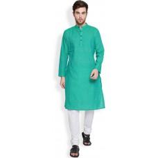 Deals, Discounts & Offers on Men Clothing - Flat 35% Offer on Svanik Striped Men's Straight Kurta