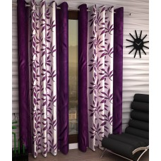 Deals, Discounts & Offers on Home Decor & Festive Needs - Home Sizzler Set of 2 Door Eyelet Curtains at 80% offer