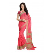 Deals, Discounts & Offers on Women Clothing - Flat 72% off on Vaamsi Women's Chiffon Printed Saree