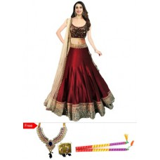 Deals, Discounts & Offers on Women Clothing - Flat 60% off on Embroidered & Designer Lehenga Choli