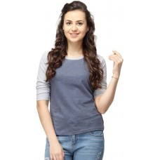 Deals, Discounts & Offers on Women Clothing - Flat 43% off on Campus Sutra Casual 3/4 Sleeve Solid Women's Top