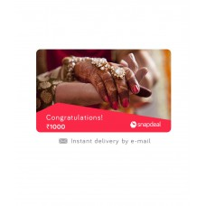 Deals, Discounts & Offers on Accessories - Flat 5% Offer on Snapdeal Wedding E-Gift Card