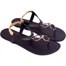 Deals, Discounts & Offers on Foot Wear - Flat 66% Offer on Myra Women Black Flats