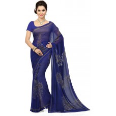 Deals, Discounts & Offers on Women Clothing - Ishin Printed Fashion Synthetic Georgette Sari
