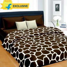 Deals, Discounts & Offers on Home Decor & Festive Needs - Cortina Polka Double Blanket Brown