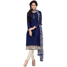 Deals, Discounts & Offers on Women Clothing - Paroma Art Chanderi Embroidered Salwar Suit Dupatta Material