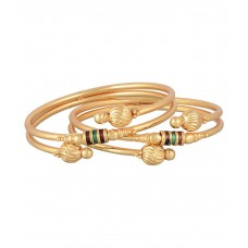 Deals, Discounts & Offers on Women - Prita Alloy Golden Bangle Set