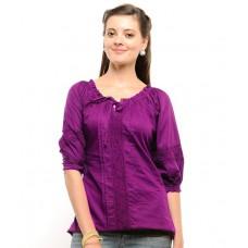 Deals, Discounts & Offers on Women Clothing - U&F Purple Cotton Tops