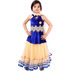 Deals, Discounts & Offers on Baby & Kids - Tiny Toon Embroidered Girl's Lehenga, Choli and Dupatta Set