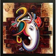 Deals, Discounts & Offers on Home Decor & Festive Needs - SAF Ganesh Ji Canvas Painting