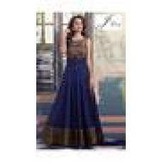 Deals, Discounts & Offers on Women Clothing - J LOVE BLUE NET EMBROIDERED DRESS MATERIAL