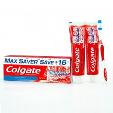 Deals, Discounts & Offers on Accessories - Colgate Maxfresh Red Toothpaste - 300 g + 1 Toothbrush Free Saver
