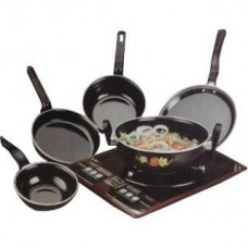 Deals, Discounts & Offers on Home Appliances - 5 pcs Hard Coat Induction Cookware Set