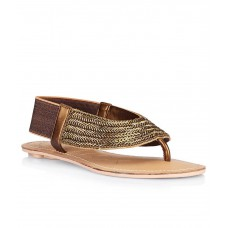 Deals, Discounts & Offers on Foot Wear - Catwalk Gold Flat Slip-Ons