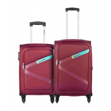 Deals, Discounts & Offers on Accessories - Safari Set of 2 Small & Medium Red Greater 2 Wheel Soft Luggage