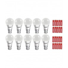 Deals, Discounts & Offers on Electronics - Flat 18% off on Eveready 7W Pack of 10 LED Bulbs