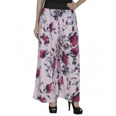 Deals, Discounts & Offers on Women Clothing - Flat 57% off on Shopingfever Pink Poly Crepe Palazzos