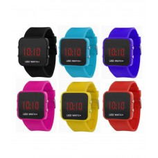 Deals, Discounts & Offers on Baby & Kids - Flat 58% off on Felicity Multicolour LED Watch - Pack of 6