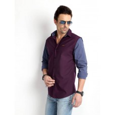 Deals, Discounts & Offers on Men Clothing - Flat 50% off on Rodid Men's Solid Casual Purple Shirt