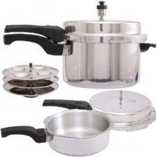 Deals, Discounts & Offers on Cookware - 5 Ltr Pressure Cooker & 3 Ltr Pressure Pan Combo