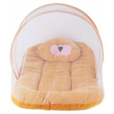Deals, Discounts & Offers on Baby Care - Chhote Janab Golden Velvet Bedding Set with Mosquito Net