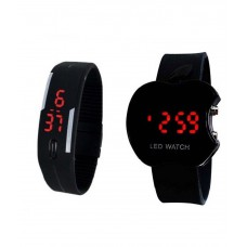 Deals, Discounts & Offers on Baby & Kids - Hacsona Black Digital Watch - Pack of 2