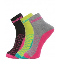 Deals, Discounts & Offers on Accessories - Reebok Women's Half Cushion Ankle Socks - Pack of 3