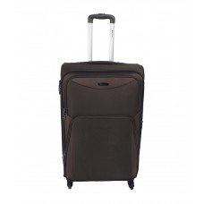 Deals, Discounts & Offers on Accessories - Safari Flora Large Brown 4 wheel trolley