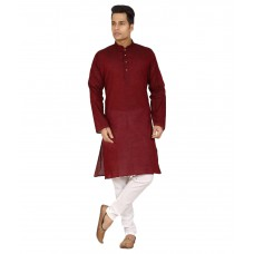 Deals, Discounts & Offers on Men Clothing - Flat 65% off on Trustedsnap Maroon Kurta Pyjama Sets