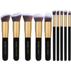 Deals, Discounts & Offers on Health & Personal Care - BS-MALL Premium Synthetic Kabuki Makeup Brush Set - Pack of 10