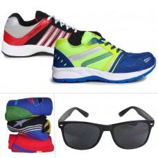 Deals, Discounts & Offers on Men - Columbus Men's Sports Shoes, Socks & Sunglass Combo