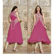 Deals, Discounts & Offers on Women Clothing - Shanaya Creative Pink Umbrella Pattern Kurti