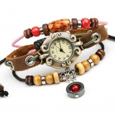 Deals, Discounts & Offers on Women - High Quality Leather vintage & Retro style ladies Bracelet Watch