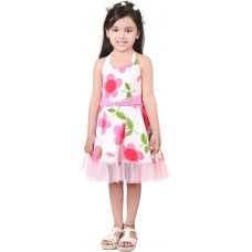 Deals, Discounts & Offers on Kid's Clothing - Kilkari Girl's Gathered Pink Dress