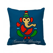 Deals, Discounts & Offers on Accessories - Tiedribbons Ganesh Blessings Printed Cushion cover