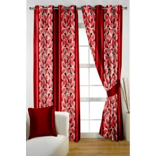 Deals, Discounts & Offers on Home Decor & Festive Needs - Homec Trandy Printed Window Curtains Set
