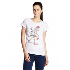Deals, Discounts & Offers on Women Clothing - Cloth Theory Women's Graphic Print T-Shirt
