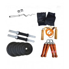 Deals, Discounts & Offers on Accessories - Gympack 20kg home gym Set with 3ft curl Rod