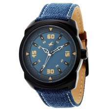 Deals, Discounts & Offers on Accessories - Fastrack 9463AL07 Blue Leather Analog Watch