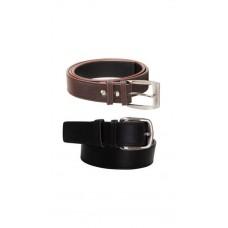 Deals, Discounts & Offers on Men - Elligator Black And Brown Combo Of 2 Belts