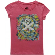 Deals, Discounts & Offers on Kid's Clothing - Nike Kids Graphic Print Girl's Round Neck Pink T-Shirt