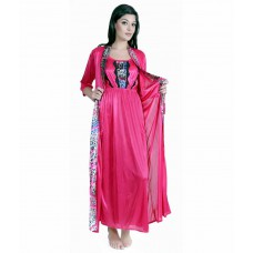 Deals, Discounts & Offers on Women Clothing - Claura Pink Satin Nighty Pack of 2