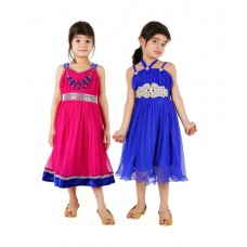 Deals, Discounts & Offers on Kid's Clothing - Tiny Toon Multi color Pack of 2 beautiful Dresses For Kids