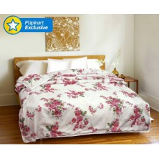 Deals, Discounts & Offers on Home Decor & Festive Needs - Flat 50% off on CURL UP Floral Single Dohar Multicolor