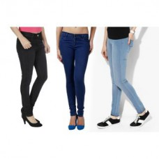 Deals, Discounts & Offers on Women Clothing - Flat 63% off on Uzee Pack Of 3 Ladies Jeans
