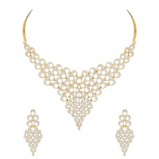 Deals, Discounts & Offers on Earings and Necklace - MGold Gold Plated Diamond Look Necklace