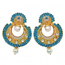 Deals, Discounts & Offers on Earings and Necklace - Surat Diamonds Traditional Round Shaped Earrings for Women
