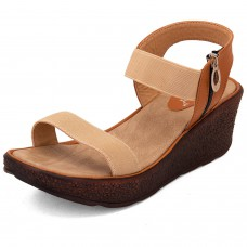 Deals, Discounts & Offers on Foot Wear - Solester Women's Brown Wedges